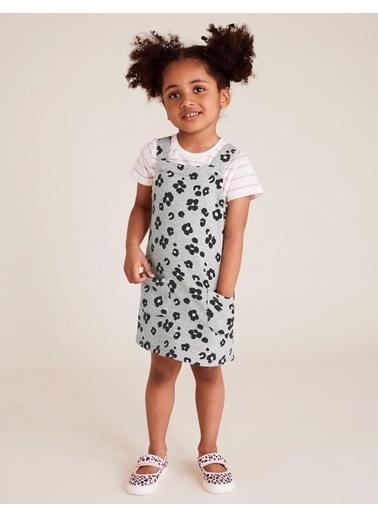 Marks & Spencer Çiçek Desenli Elbise Gri